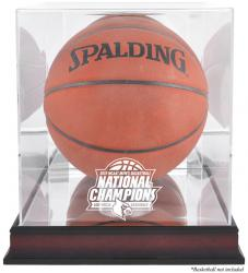 Louisville Cardinals 2013 Men's NCAA Basketball National Champions Antique Mahogany Finish Basketball Display Case w/ Mirror Back - Mounted Memories