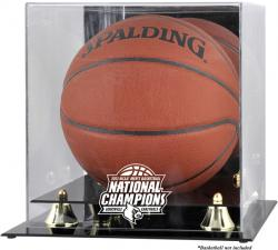 Louisville Cardinals 2013 NCAA Men's Basketball National Champions Golden Classic Logo Basketball Display Case with Mirror Back