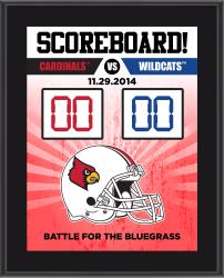 "Louisville Cardinals 2014 Win Over Kentucky Wildcats Sublimated 10.5"" x 13"" Scoreboard Plaque"