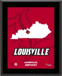 "Louisville Cardinals Sublimated 10.5"" x 13"" State Plaque"
