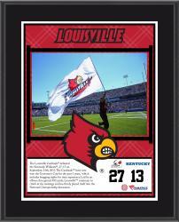 "Louisville Cardinals Win Over Kentucky Wildcats Sublimated 10.5"" x 13"" Plaque"