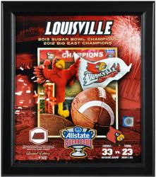 Louisville Framed 2013 Sugar Bowl Champs Collage W/ Game Used Ball