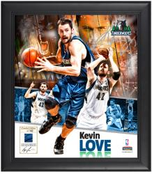"Kevin Love Minnesota Timberwolves Framed 15"" x 17"" Collage with Game-Used Jersey-Limited Edition of 542"