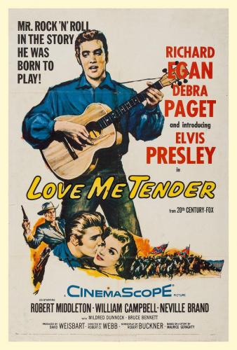 Love Me Tender One Sheet Movie Poster, 1956. Linen Backed