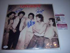 Loverboy Lovin Every Minute Of It 4 Sigs Jsa/coa Signed Lp Record Album