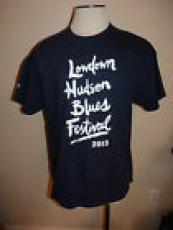 Lowdown Hudson Blues Festival 2013 Men XL Blue T Shirt STAFF Crew BB King