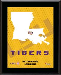 "LSU Tigers Sublimated 10.5"" x 13"" State Plaque"