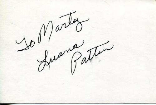 Luana Patten Child Actress Song Of The South Walt Disney Signed Card Autograph