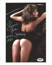 Luann Lee Signed Playboy 8x10 Photo PSA/DNA COA January 1987 Magazine Playmate 7
