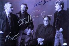 Lucas Coppola Scorsese Spielberg Multi Signed 12X18 Photo Directors JSA Z47222