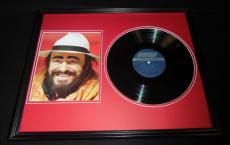 Luciano Pavarotti 18x24 Framed 1980 Greatest Hits Album & Photo Set