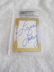 Lucille Ball 2017 Leaf Masterpiece Cut Signature signed autographed card 1/1 JSA