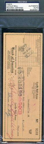 LUCILLE BALL ARNAZ LUCY Hand Signed PSA DNA 1958 CHECK Autograph Authentic