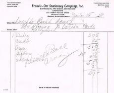 Lucille Ball Arnaz receipt PSA DNA Signed Autographed B50016