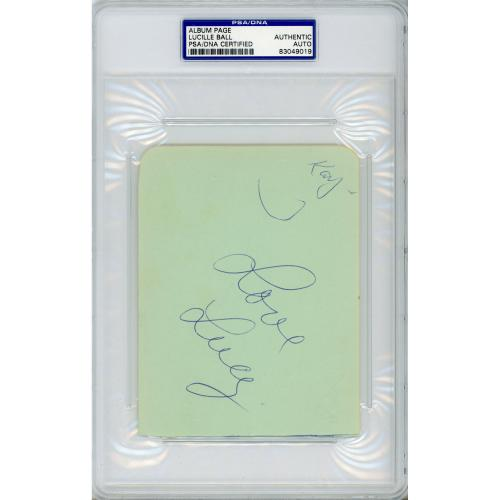 Lucille Ball Autographed Cut Signature - PSA