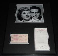 Lucille Ball & Desi Arnaz Dual Signed Framed 16x20 Photo Display PSA/DNA