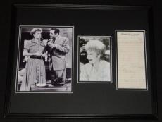 Lucille Ball & Desi Arnaz Dual Signed Framed Photo Display JSA I Love Lucy