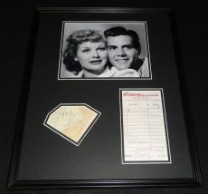 Lucille Ball & Desi Arnaz Dual Signed Framed Photo Display PSA/DNA I Love Lucy