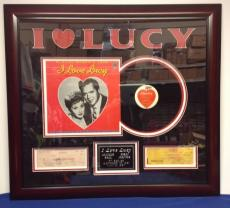 Lucille Ball Desi Arnaz Framed Signed Canceled Checks 'I Love Lucy' PSA