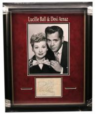 Lucille Ball Desi Arnaz Lucy Jsa  Signed Framed Album Page Authentic Autograph
