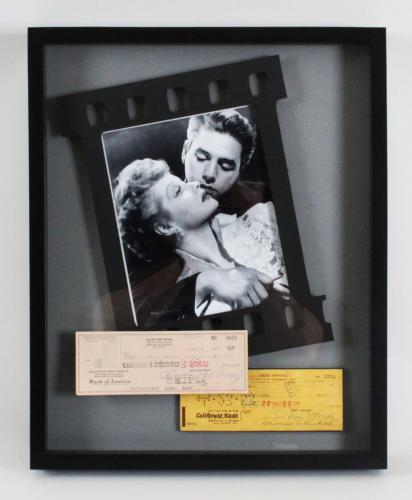 Lucille Ball & Desi Arnaz Signed Checks 17×21 Photo Display