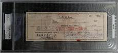 Lucille Ball Dual Hand Signed Personal Check Written To Herself PSA/DNA