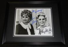 Lucille Ball & Eva Gabor Dual Signed Framed 8x10 Photo JSA