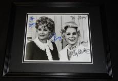 Lucille Ball & Eva Gabor Dual Signed Framed 8x10 Photo JSA B