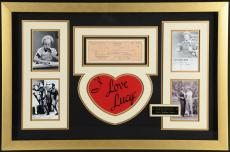 "Lucille Ball Framed Autographed 34"" x 24"" Check with Multiple Photos - JSA LOA"