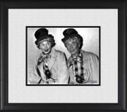 "Lucille Ball & Harpo Marx I Love Lucy Framed 8"" x 10"" in Clown Costumes Photograph"