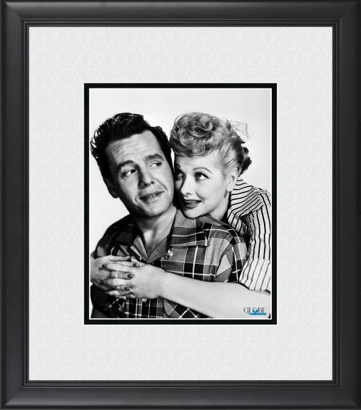 """Lucille Ball I Love Lucy Framed 8"""" x 10"""" Hugging Ricky Photograph"""