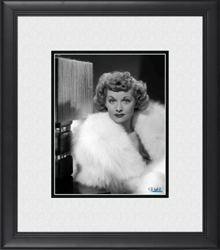 """Lucille Ball I Love Lucy Framed 8"""" x 10"""" in Fur Coat Photograph"""