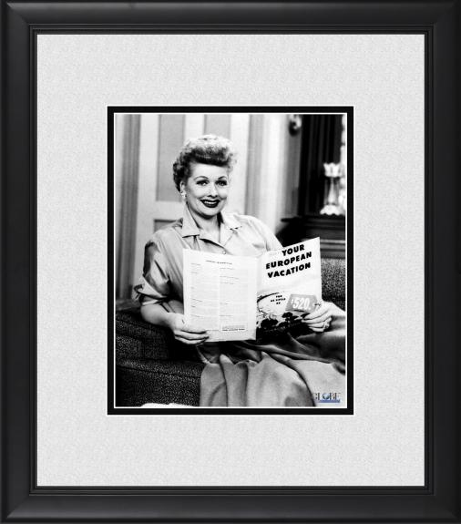 """Lucille Ball I Love Lucy Framed 8"""" x 10"""" Ricky's European Booking Photograph"""