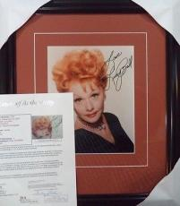 """Lucille Ball """" I Love Lucy """" Jsa Loa Signed Autographed 8x10 Photo Matted Framed"""
