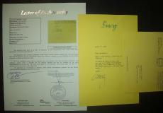 """Lucille Ball """"i Love Lucy"""" Signed Autograph 1987 Typed Letterhead Letter Jsa Loa"""