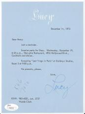 Lucille Ball I Love Lucy Signed Autograph 71 Personal Letterhead Letter Jsa Loa