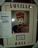 Lucille Ball I Love Lucy Signed Autograph Double Matted & Framed Jsa Loa Rare C