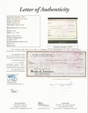 Lucille Ball I Love Lucy Signed Autographed 1952 Personal Check Jsa Loa #y98776