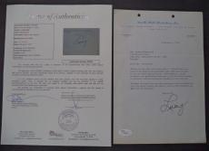 """Lucille Ball """"i Love Lucy"""" Signed Autographed 1970 Letter Jsa Loa Authenticated"""