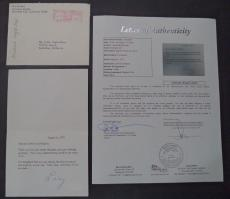 """Lucille Ball """"i Love Lucy"""" Signed Autographed 1971 Letter W/coa Rare Authentic"""