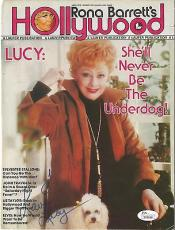 Lucille Ball I Love Lucy Signed Autograph 1978 Hollywood Magazine Cover Jsa Loa