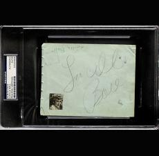 "Lucille Ball ""I Love Lucy"" Signed Autographed Auto Album Page PSA DNA 83564984"
