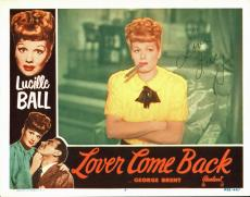 """Lucille Ball """"Love"""" Signed Original Lover Come Back 11x14 Lobby Card JSA #Z40774"""