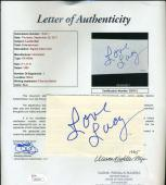 LUCILLE BALL LUCY Hand Signed JSA COA 3x5 Index Card Autographed Authentic