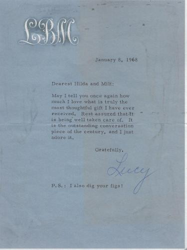 Lucille Ball Signed 1968 Letter BAS Beckett COA To I Love Lucy TV Show Writer