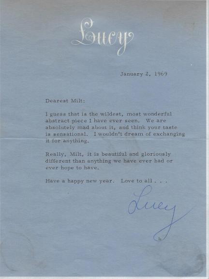 Lucille Ball Signed 1969 Letter BAS Beckett COA To I Love Lucy Show Writer Milt