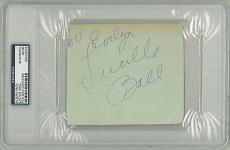 Lucille Ball Signed Authentic Autographed Album Page Slabbed PSA/DNA #83526942
