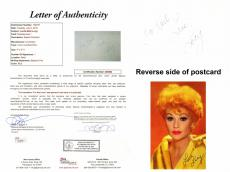 Lucille Ball Signed - Autographed Postcard with To Karl personalization - I Love Lucy Actress - FULL JSA Letter of Authenticity - Deceased 1989 - Lucy Ball