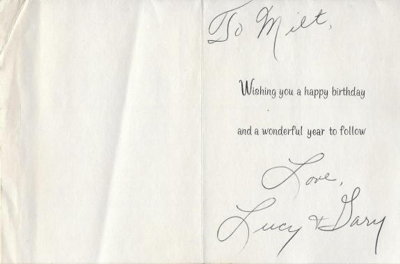 Lucille Ball Signed Birthday Card BAS Beckett COA To I Love Lucy Show Writer