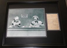 Lucille Ball Signed Framed 16x20 Receipt & Photo Poster Display I Love Lucy
